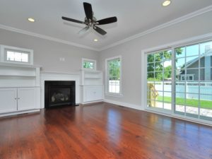 Family Room with Builtins