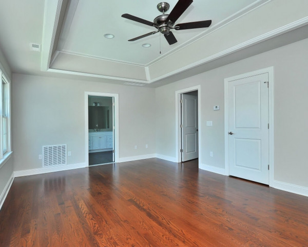 Master Bedroom with Trey Light Ceiling