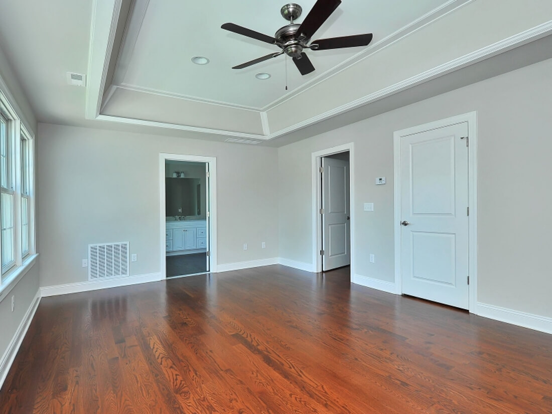 110 Master Bedroom with Trey Light Ceiling