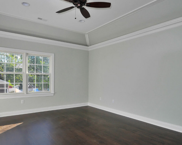 Master Bedroom With Trey and Light Ceiling