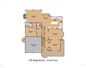 1st Floor Color- 129 Brightwood Ave.