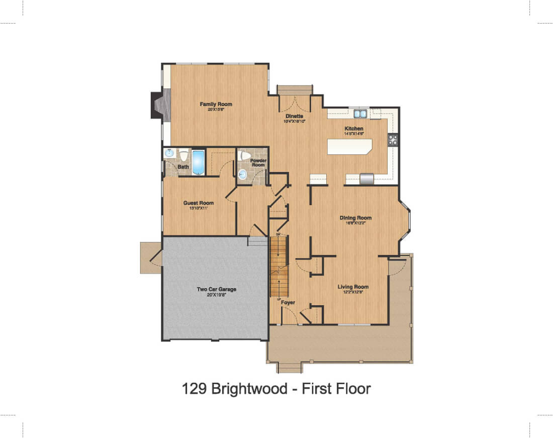 129 Brightwood 1st Floor Color