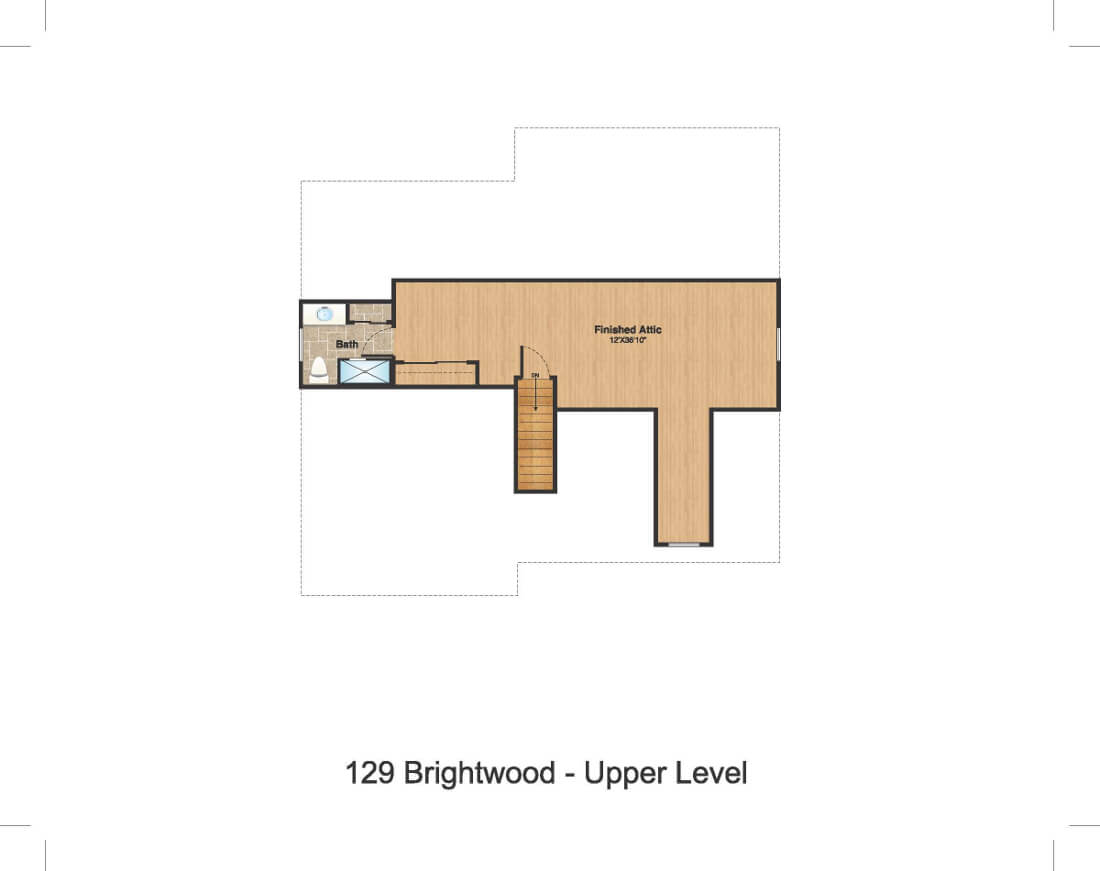 129 Brightwood Attic Color