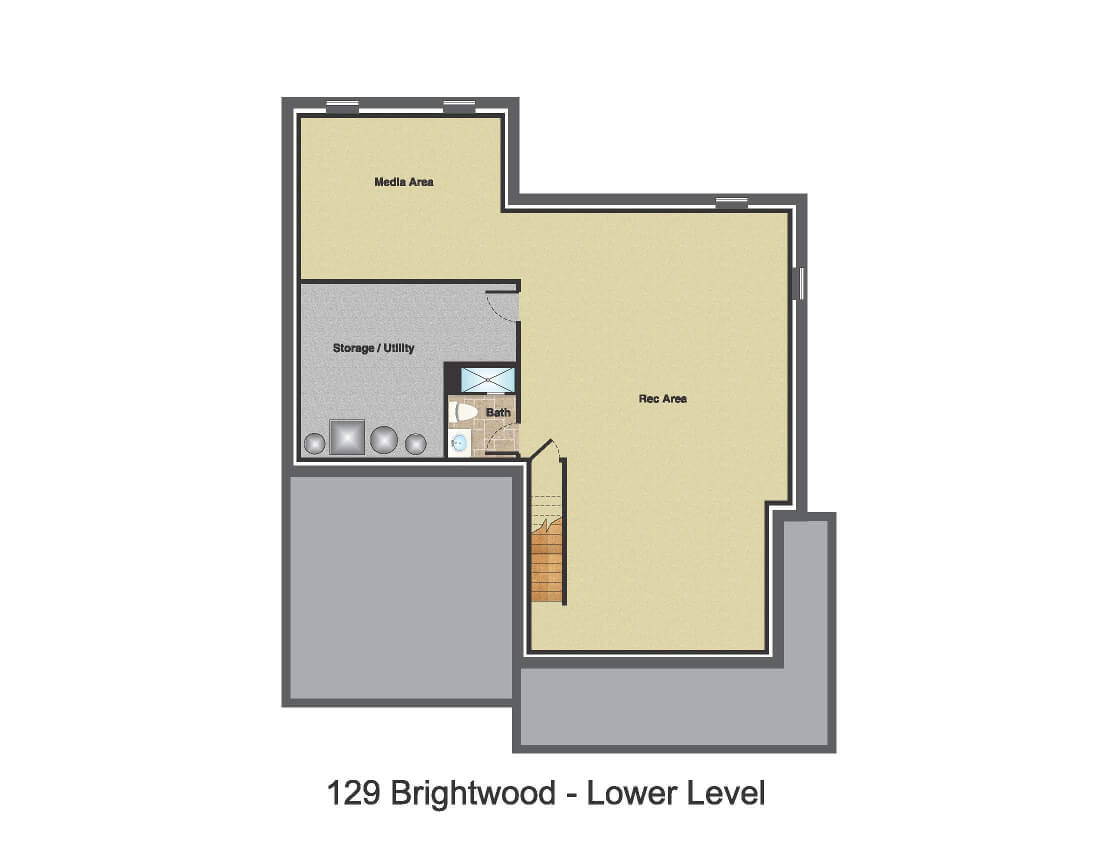 129 Brightwood Basement Color