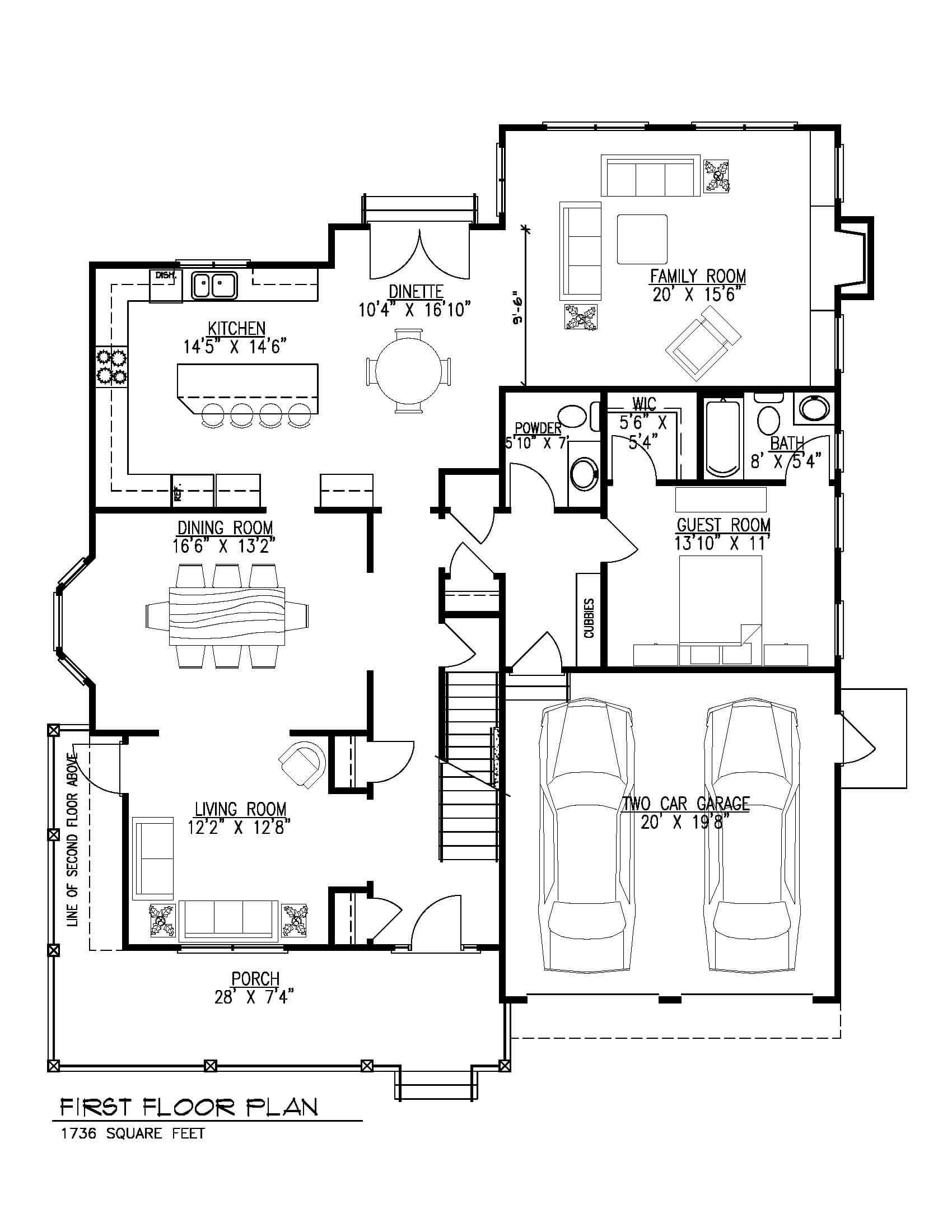 129 Brightwood First Floor B&W