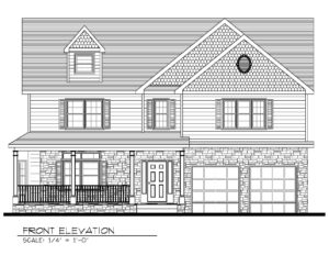 Front Elevation B&W- 129 Brightwood Ave.