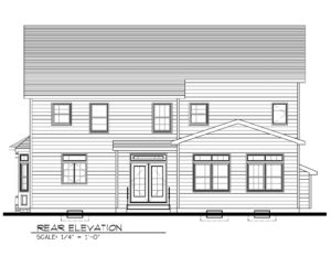 Rear Elevation B&W- 129 Brightwood Ave.