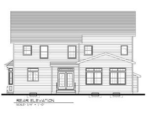 Rear Elevation B&W- 129 Brightwood Ave.