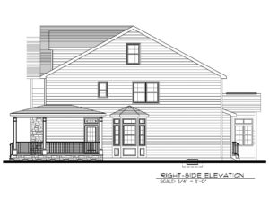 Right Elevation B&W- 129 Brightwood Ave.