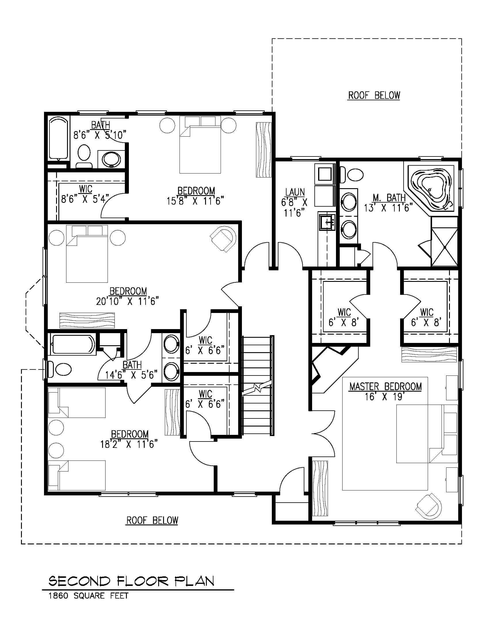 129 Brightwood Second Floor B&W
