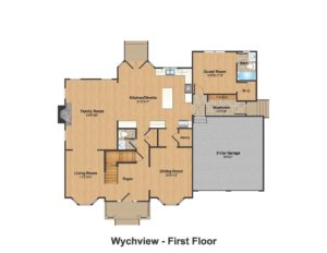 14 Wychview Drive, Westfield- Color 1st Floor Plan