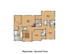 14 Wychview Drive, Westfield- Color 2nd Floor Plan