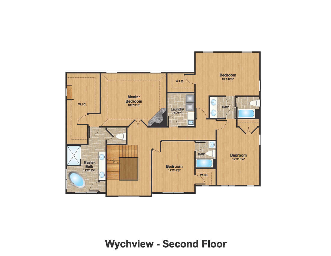 14 Wychview Color 2nd Floor Plan