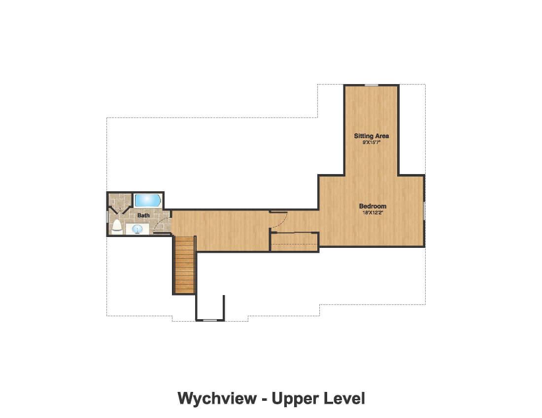 14 Wychview Color Attic Floor Plan