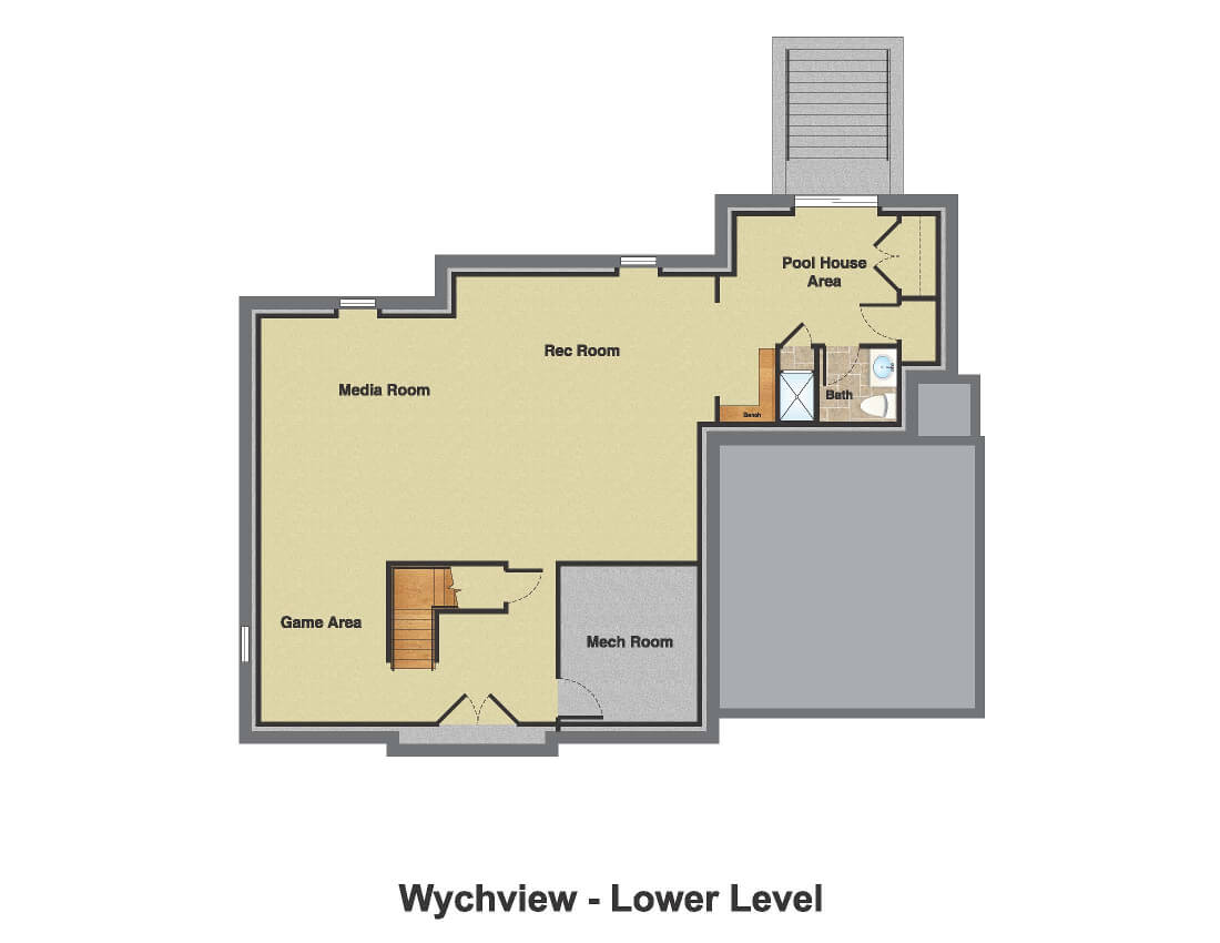 14 Wychview Color Basement Floor Plan