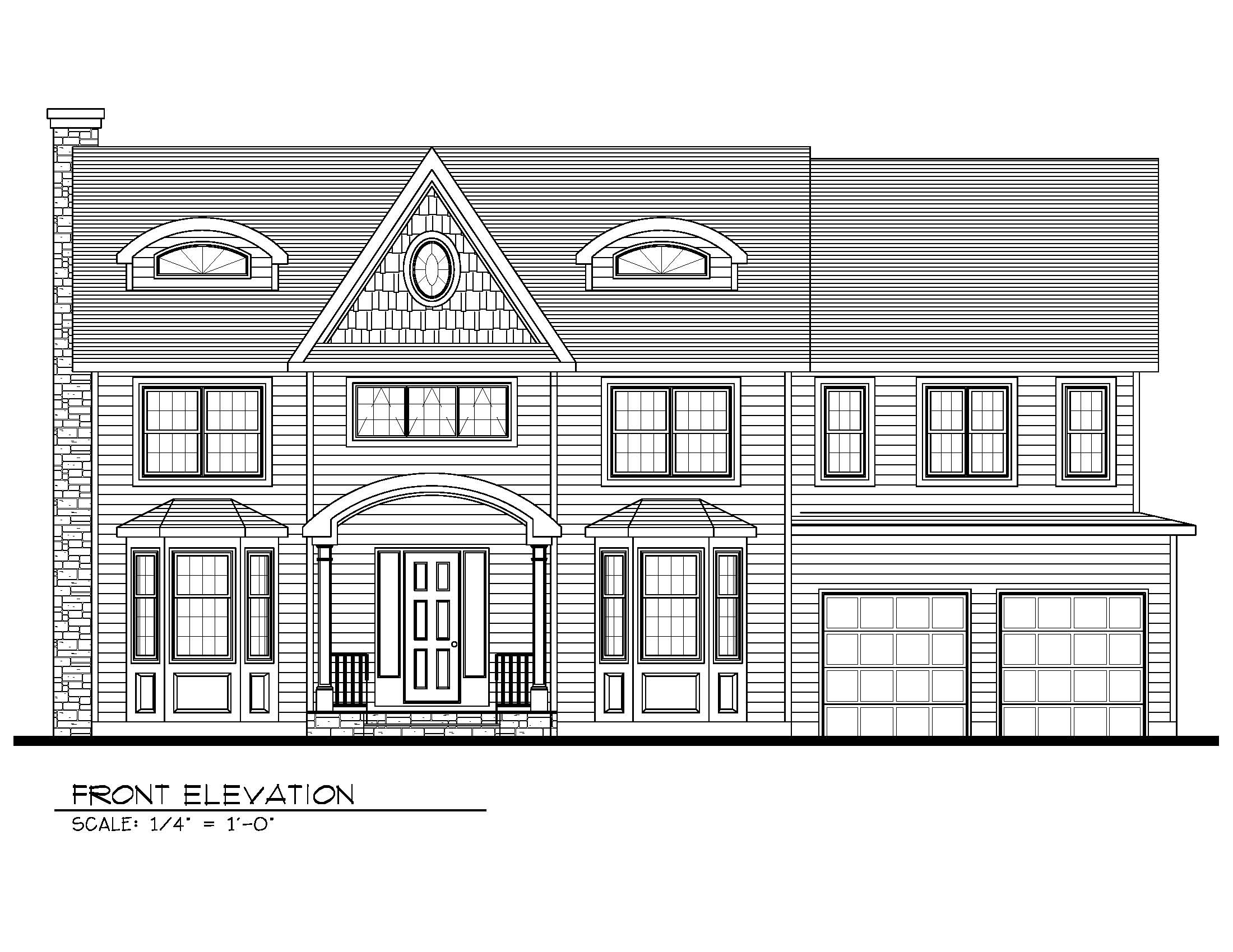 14 Wychview Front Elevation B&W