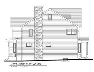 14 Wychview Drive, Westfield- Left Side Elevation B&W