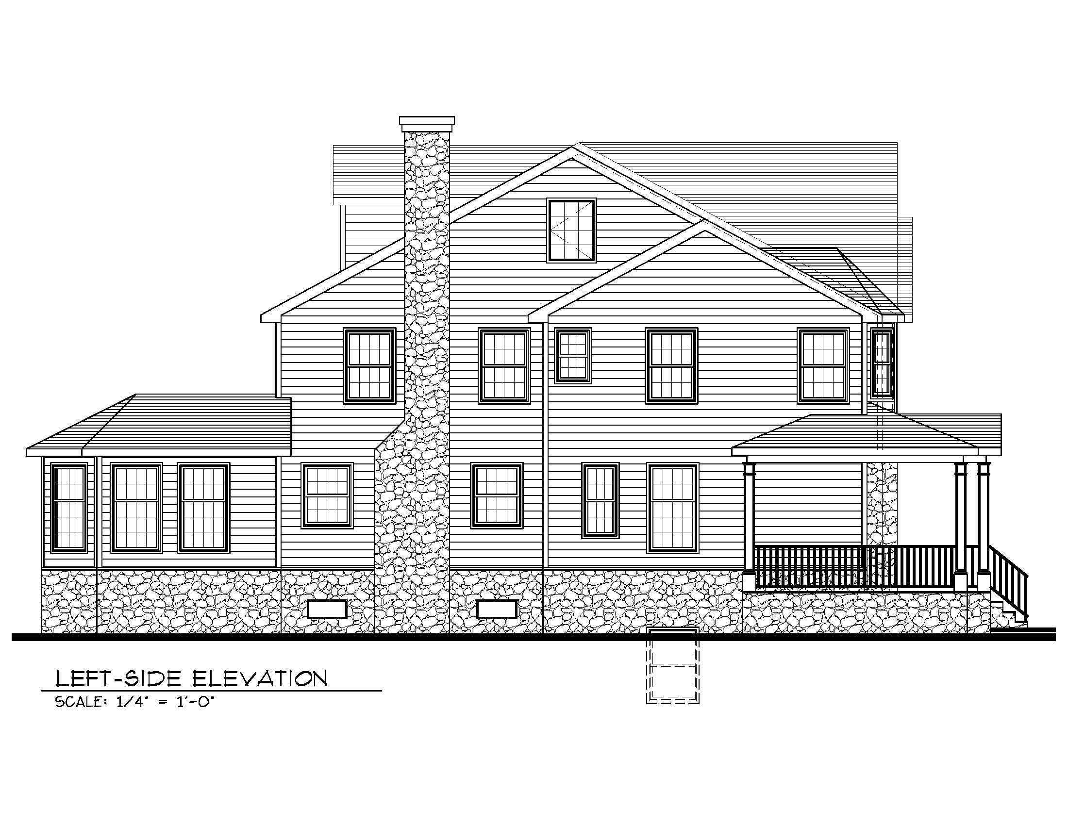 20 Barchester Left Side Elevation - Premier Design Custom Homes