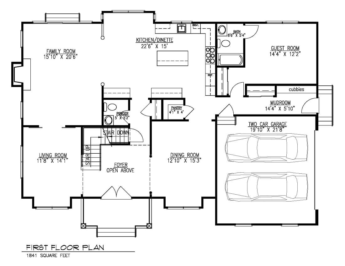 221 Golf 1st Floor Plan