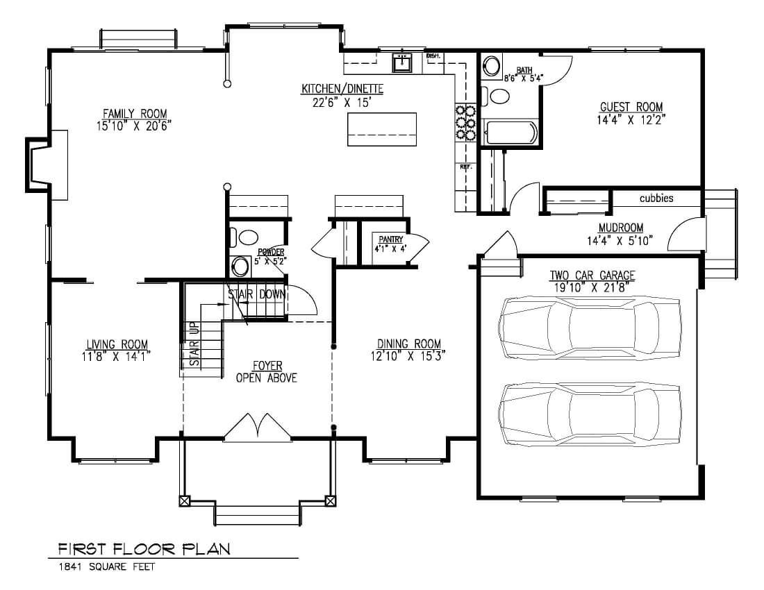 221 Golf 1st Floor Plan