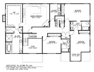 221 Golf Edge, Westfield- 2nd Floor Plan