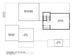 221 Golf Edge, Westfield- Attic Floor Plan