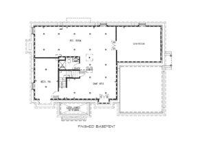 221 Golf Edge, Westfield- Basement Floor Plan