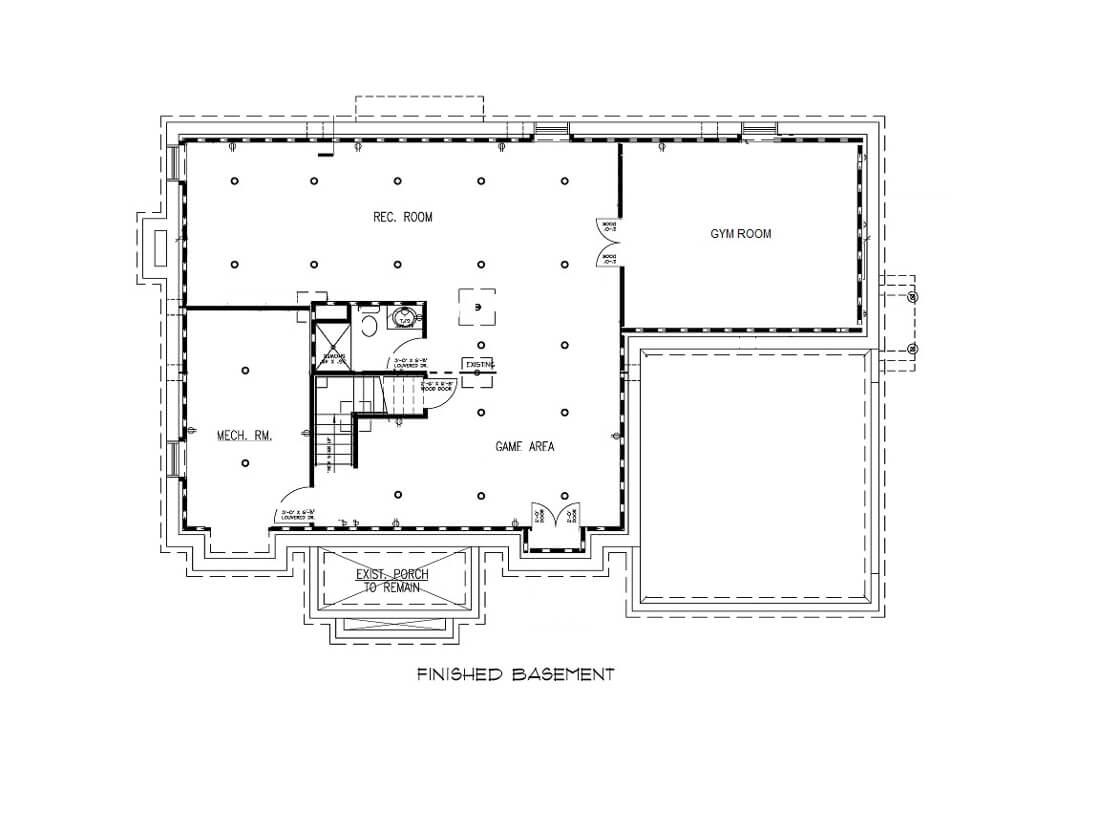 221 Golf Edge Basement Floor Plan