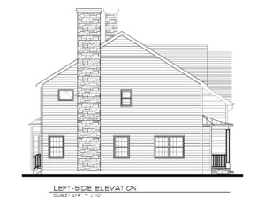 221 Golf Edge, Westfield- Left Elevation