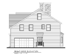 221 Golf Edge, Westfield- Right Elevation