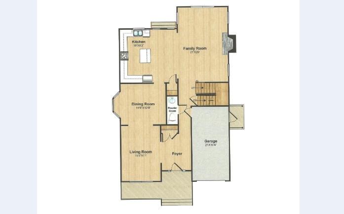 309 Belmar Floor Plan 1st Floor