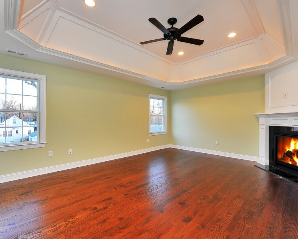 Master Bedroom I with Lit Tray Ceiling