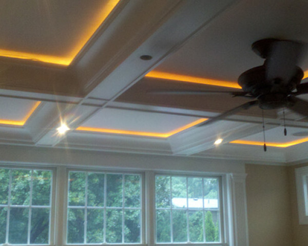 Family Room Lit Ceiling