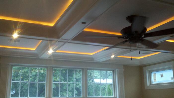 405 Quantuck Family Room Ceiling