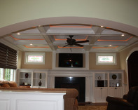 Family Room with Built Ins