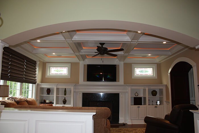 405 Quantuck Family Room with Built Ins