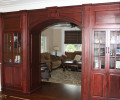 Living Room with Custom Arch and Built ins