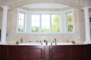 405 Quantuck Lane, Westfield- Master Bath Jacuzzi with Arch and Custom Tub Skirt