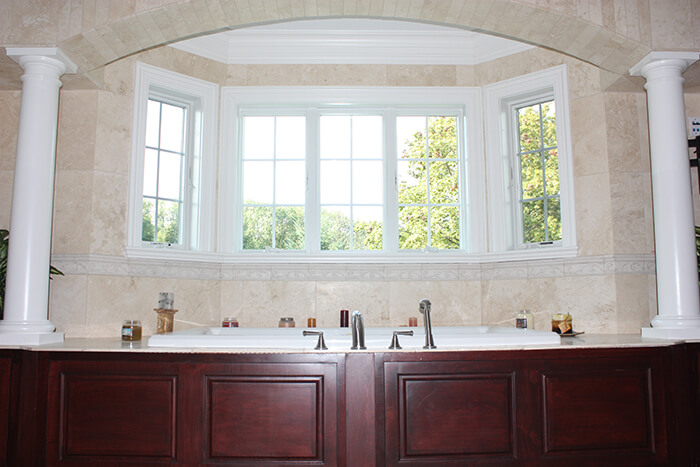 405 Quantuck Master Bath Jacuzzi with Arch and Custom Tub Skirt