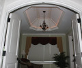 Master Sitting Room with Arch Entryway