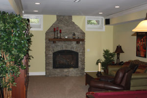 405 Quantuck Lane, Westfield- Stone Fireplace with Recycled Timber Mantle