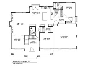 407 Quantuck Lane, Westfield- First Floor Plan B&W