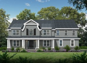 407 Quantuck Lane, Westfield- Front Rendering Color