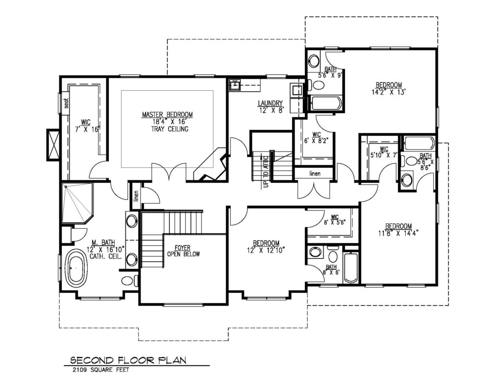 407 Quantuck Lane, Westfield- Second Floor Plan B&W