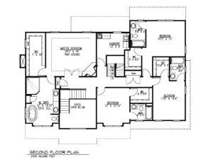 407 Quantuck Lane, Westfield- Second Floor Plan B&W