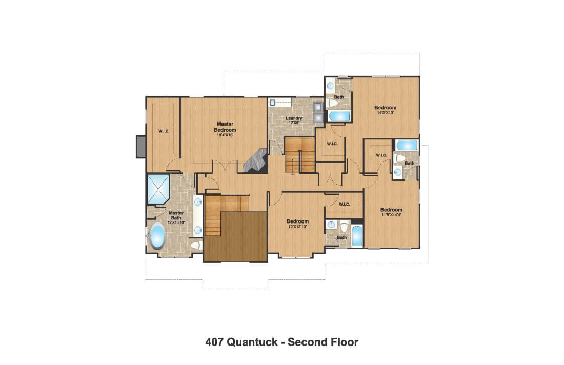407 Quantuck Second Floor Plan