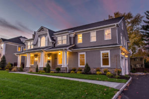 407 Quantuck Ln, Westfield- Right Elevation Twilight