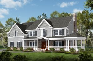 408 Quantuck Lane, Westfield- Front Color Rendering