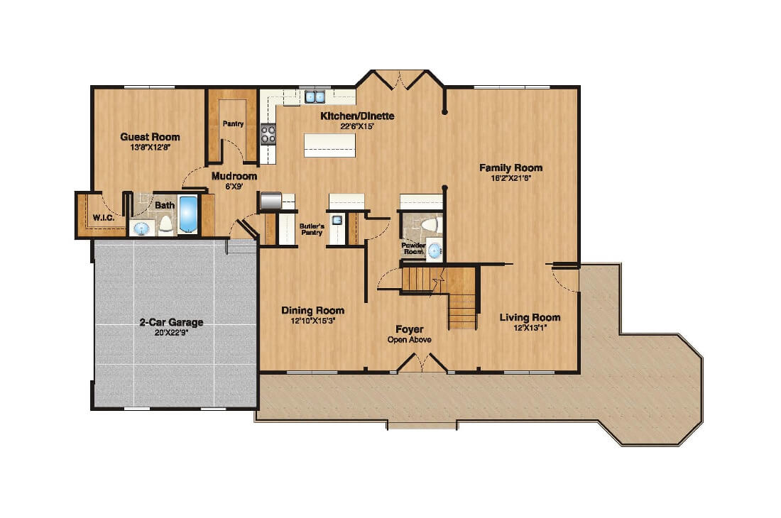 408 Quantuck 1st Floor Plan