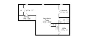 408 Quantuck Lane, Westfield- Basement Floor Plan
